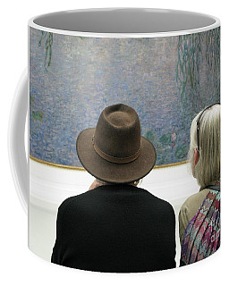 Contemplating Art Coffee Mug by Ann Horn