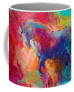 Contemporary Vibrant Horse Painting Coffee Mug