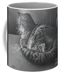 Coffee Mug featuring the drawing Contentment by Pamela Clements