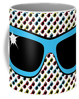 Cool 90's Sunglasses Blue Coffee Mug