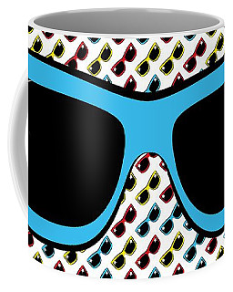Cool 90's Sunglasses Blue Coffee Mug