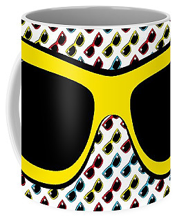 Cool 90's Sunglasses Yellow Coffee Mug