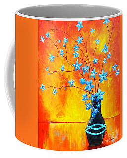 Cool Blue On Fire Coffee Mug