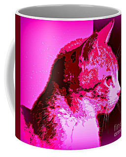 Cool Cat Coffee Mug by Clare Bevan