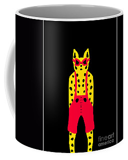 Cool For Cats In Red Dungarees Coffee Mug