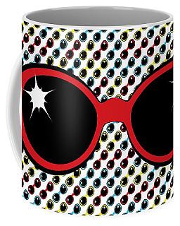 Cool Retro Red Sunglasses Coffee Mug