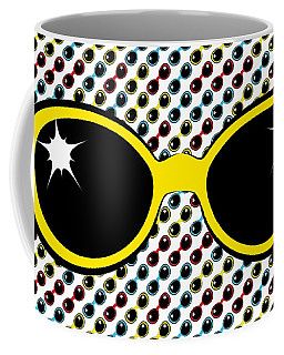 Cool Retro Yellow Sunglasses Coffee Mug