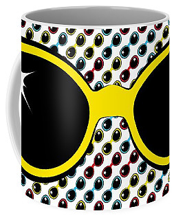 Cool Retro Yellow Sunglasses Coffee Mug