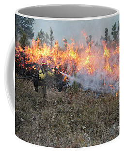 Cooling Down The Norbeck Prescribed Fire. Coffee Mug