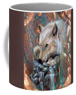 Copper Arctic Wolf Coffee Mug