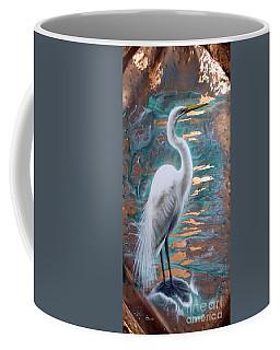 Copper Egret Coffee Mug