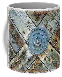 Copper Medalion On Weathered Gate-new Mexico Coffee Mug