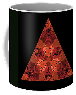 Copper Triangle Abstract Coffee Mug