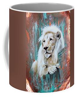 Copper White Lion Coffee Mug