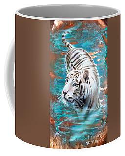 Copper White Tiger Coffee Mug