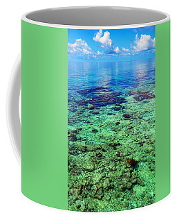 Coral Reef Near The Island At Peaceful Day. Maldives Coffee Mug