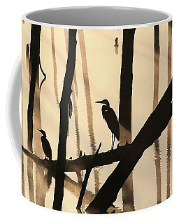 Cormorant And The Heron Coffee Mug