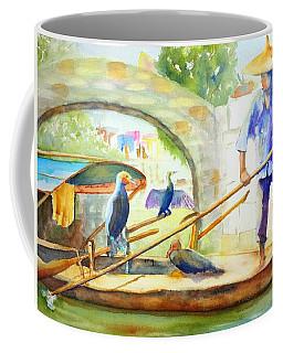 Cormorant Fishing - China Coffee Mug