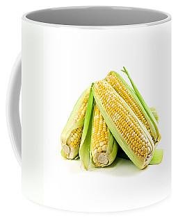 Corn Ears On White Background Coffee Mug