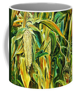 Spirit Of The Corn Coffee Mug by Anna-maria Dickinson