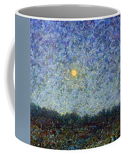 Coffee Mug featuring the painting Cornbread Moon - Square by James W Johnson