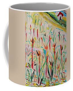 Cornfield And Small Barn Coffee Mug by Mary Carol Williams