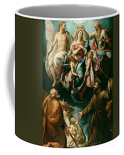 Coronation Of The Virgin With Saints Joseph And Francis Of Assisi Coffee Mug