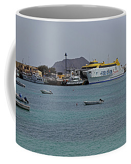 Corralejo Harbour Coffee Mug