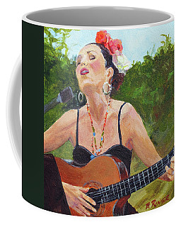 Coffee Mug featuring the painting Corrido by Bonnie Rinier