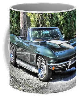 Coffee Mug featuring the photograph Corvette Convertible by Victor Montgomery