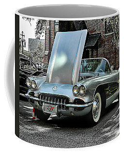 Coffee Mug featuring the photograph Corvette by Victor Montgomery