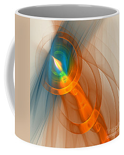 Coffee Mug featuring the digital art Cosmic Candle by Victoria Harrington