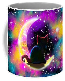 Cosmic Cat Coffee Mug by Nick Gustafson