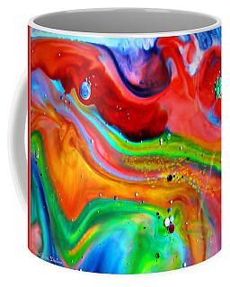 Coffee Mug featuring the painting Cosmic Lights by Joyce Dickens
