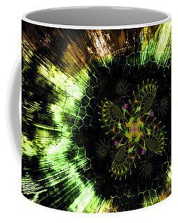 Cosmic Solar Flower Fern Flare Coffee Mug