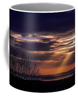 Cosmic Spotlight On Shannon Airport Coffee Mug