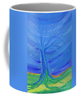 Coffee Mug featuring the painting Cosmic Tree by First Star Art