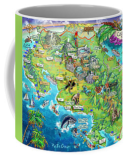 Costa Rica Map Illustration Coffee Mug