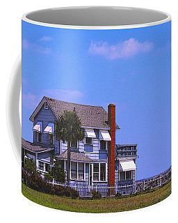 Coffee Mug featuring the photograph Cottage Blue by Laura Ragland