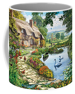 Cottage By The Lake Coffee Mug