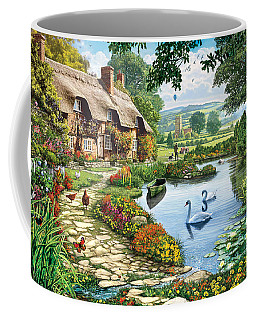 Cottage By The Lake Coffee Mug