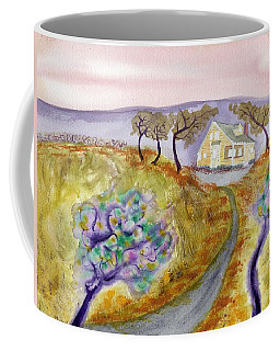 Cottage By The Purple Trees Coffee Mug