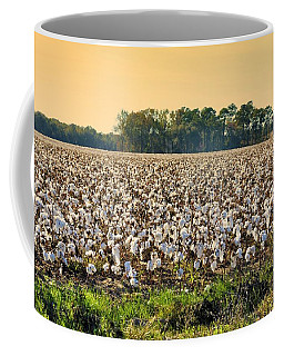 Cotton Fields Back Home Coffee Mug by Jan Amiss Photography