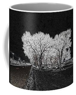 Coffee Mug featuring the digital art Cottonwood Frost by Aliceann Carlton