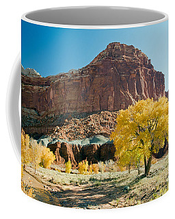 Cottonwoods In Fall The Castlecapitol Reef National Park Coffee Mug