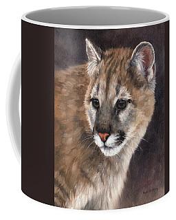 Cougar Cub Painting Coffee Mug