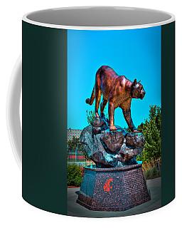 Cougar Pride Sculpture - Washington State University Coffee Mug