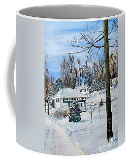 Country Club In Winter Coffee Mug