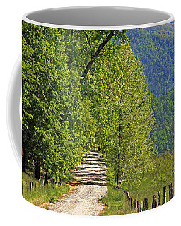 Coffee Mug featuring the photograph Country Road by Geraldine DeBoer