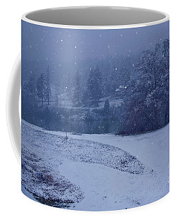 Country Snowstorm Landscape Art Prints Coffee Mug by Valerie Garner
